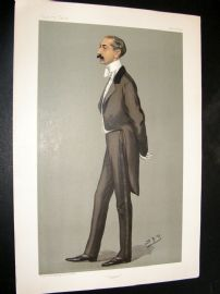 Vanity Fair Print 1899 Reginald Ward, Banker